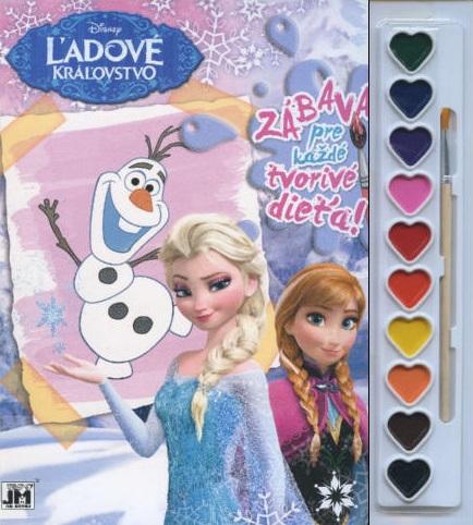 Zábava pre každé tvorivé dieťa! Ľadové kráľovstvo ( Veľký formát ) - Kreatívna sada s farbami a štetcom
