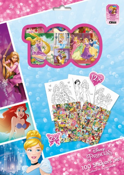 100 Stickers Set - Princess