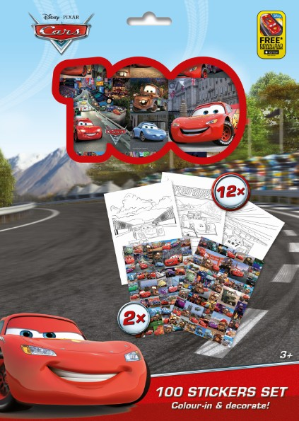 100 Stickers set - Cars