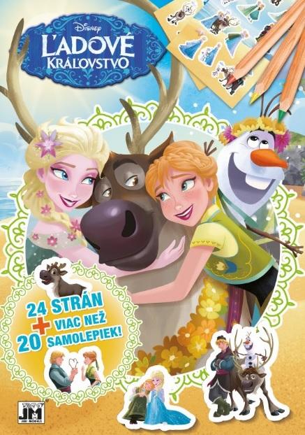 24 strán + viac než 20 samolepiek! Ľadové kráľovstvo - Vymaľovanka A4