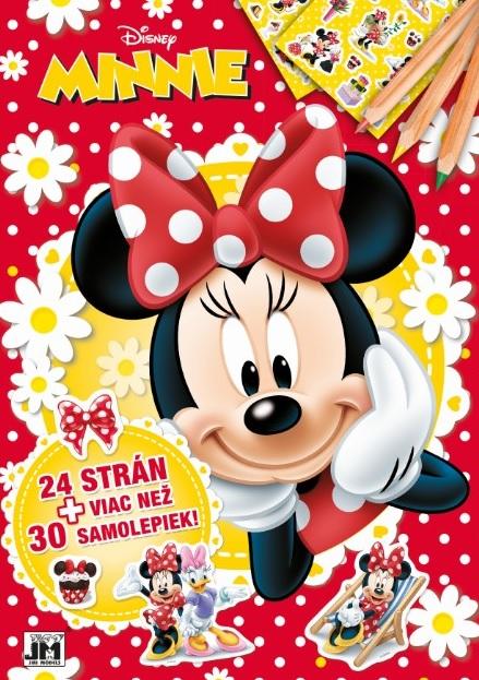 24 strán + viac než 30 samolepiek! Minnie - Vymaľovanka A4
