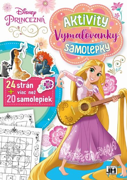 24 strán + viac než 20 samolepiek! Princezná - Aktivity, Vymaľovanky, Samolepky A4