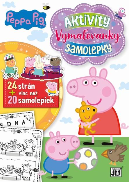 24 strán + viac než 20 samolepiek! Peppa Pig - Aktivity, Vymaľovanky, Samolepky A4