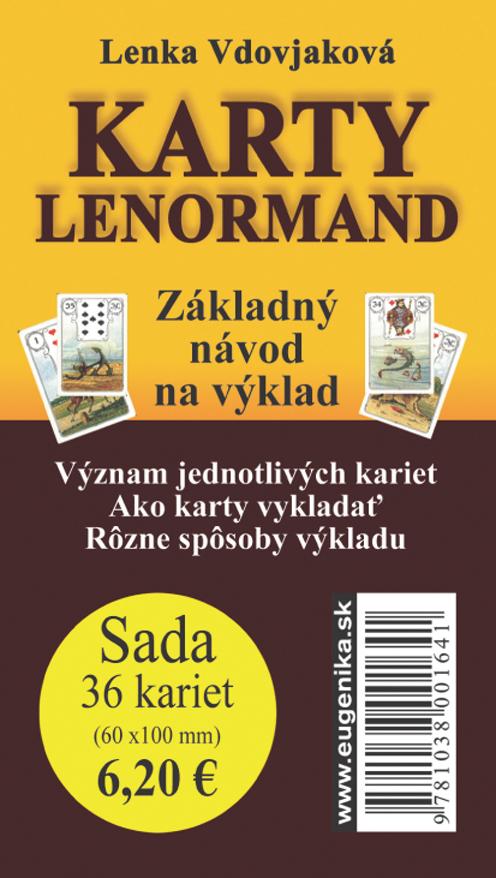 Karty Lenormand (sada: karty + brožúrka) - Základný návod na výklad