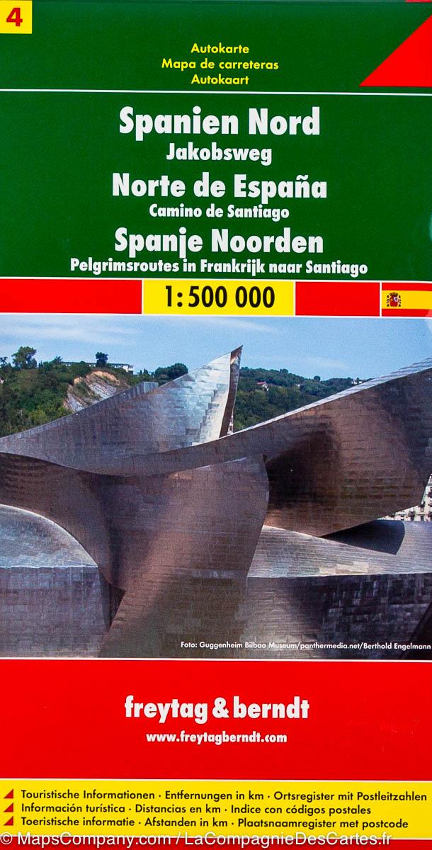 Automapa Španělsko 4. - sever 1:500 000
