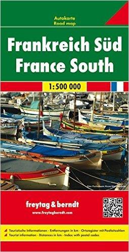 Frankreich Süd / France South 1:500 000 - Autokarte / Road map