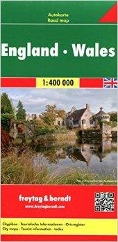 Automapa Anglie a Wales 1:400 000