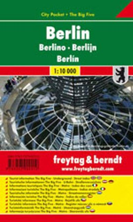 Berlin / city plan centrum lamino 1:10 000