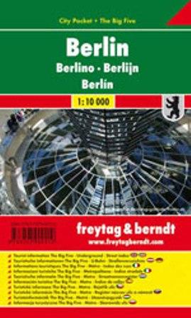 Berlin / city plan centrum lamino 1:10 000