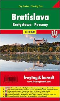 Bratislava / city plan centrum lamino 1:10 000