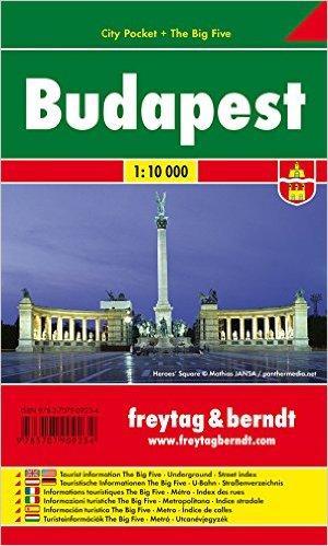 Budapest / city plan centrum lamino 1:10 000