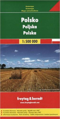 Automapa Polsko 1:500 000