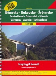 Autoatlas Německo Rakousko Švýcarsko 1:300 000 - Superatlas