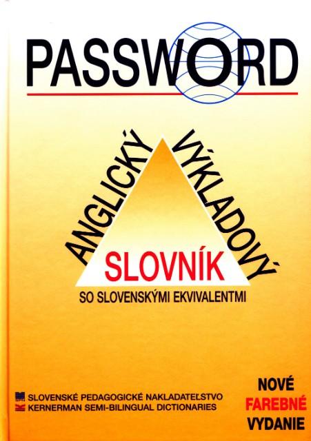 Password - Anglický výkladový slovník so slovenskými ekvivalentmi - 4. vydanie