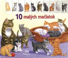 10 malých mačiatok