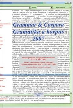 Gramatika a korpus 2007