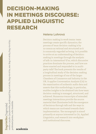 Decision-making in Meetings Discourse: Applied Linguistic Research