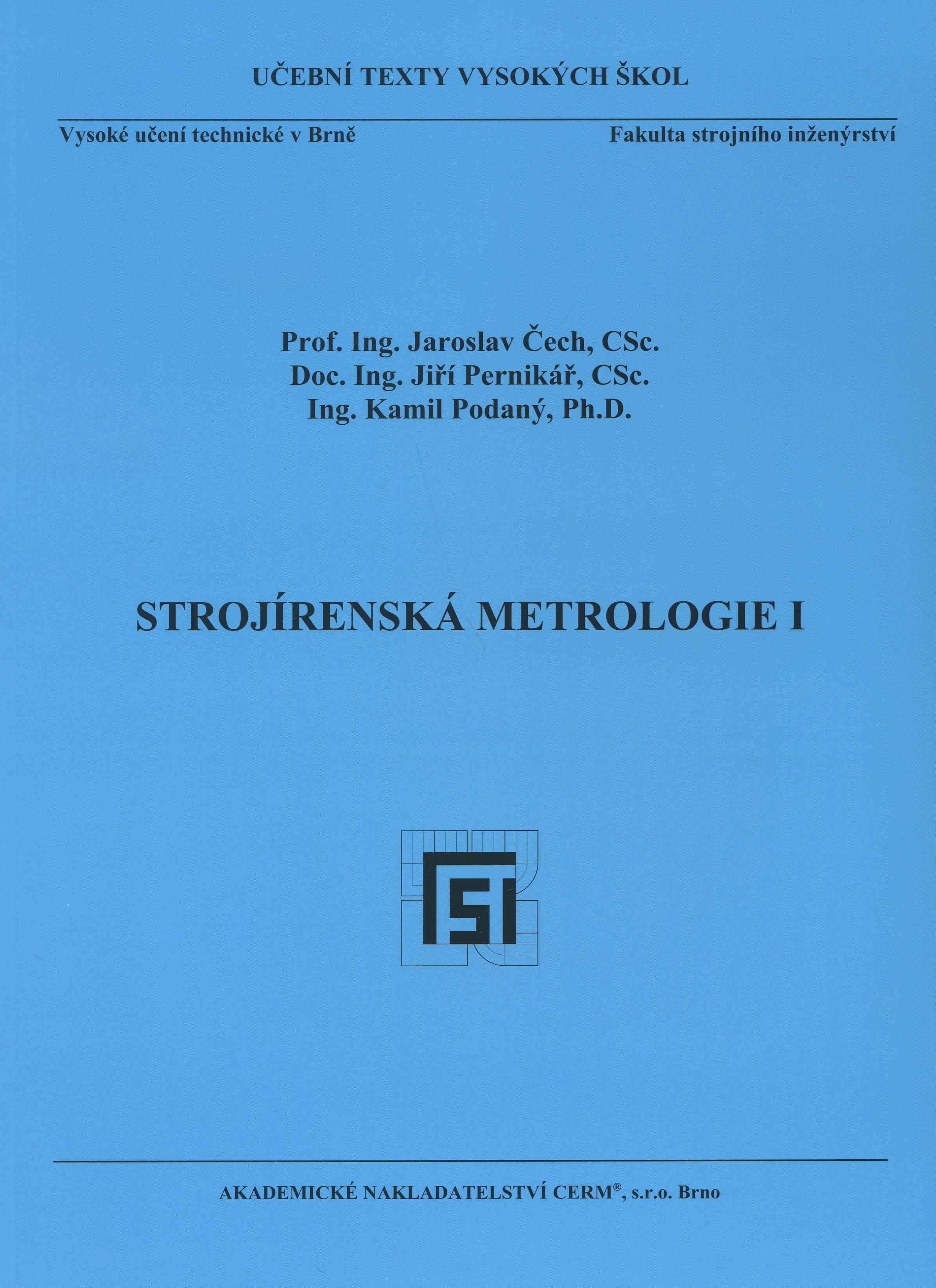 Strojírenská metrologie I.