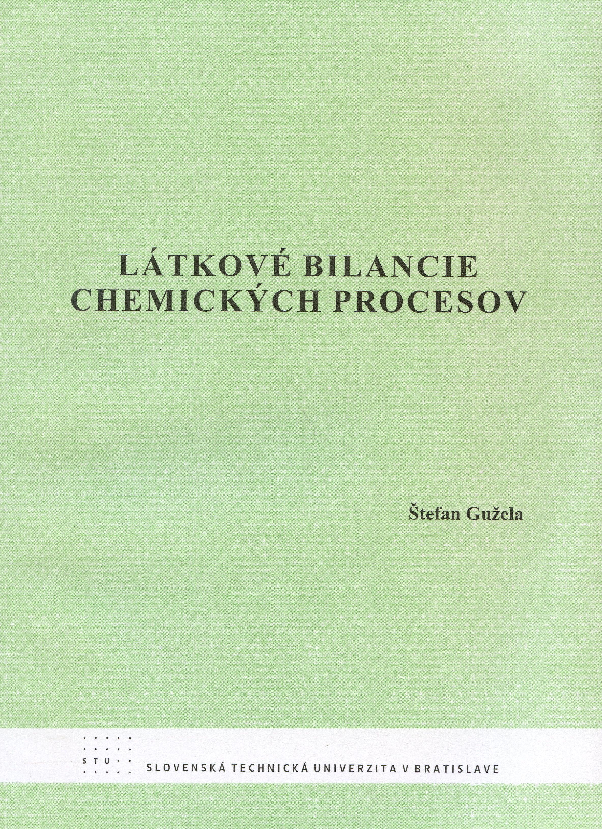 Látkové bilancie chemických procesov