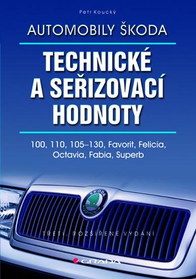 Automobily Škoda Technické a seřizovací hodnoty - 100, 110, 105-130, Favorit, Felicia, Octavia, Fabia, Superb