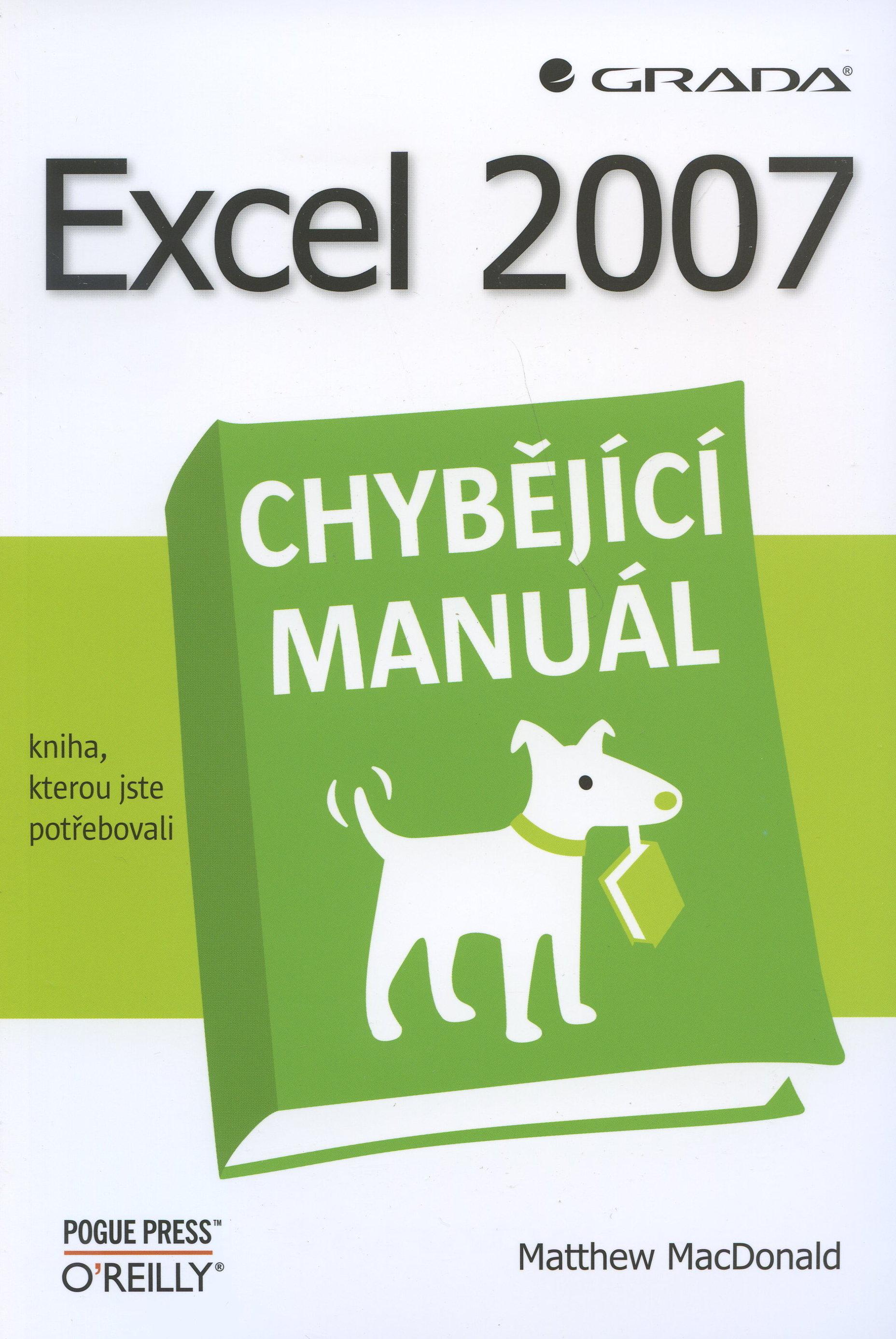 Excel 2007 - chybějící manuál