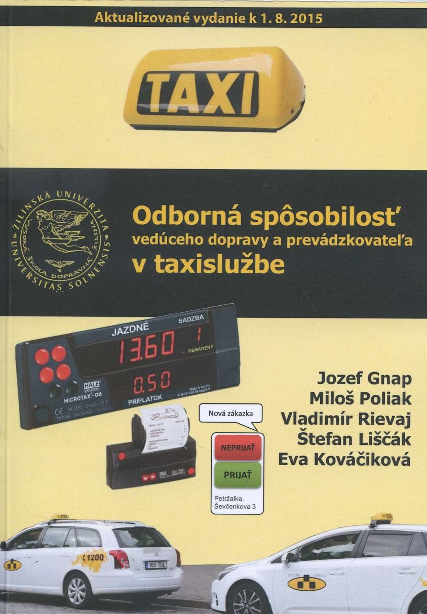 Odborná spôsobilosť vedúceho dopravy a prevádzkovateľa v taxislužbe
