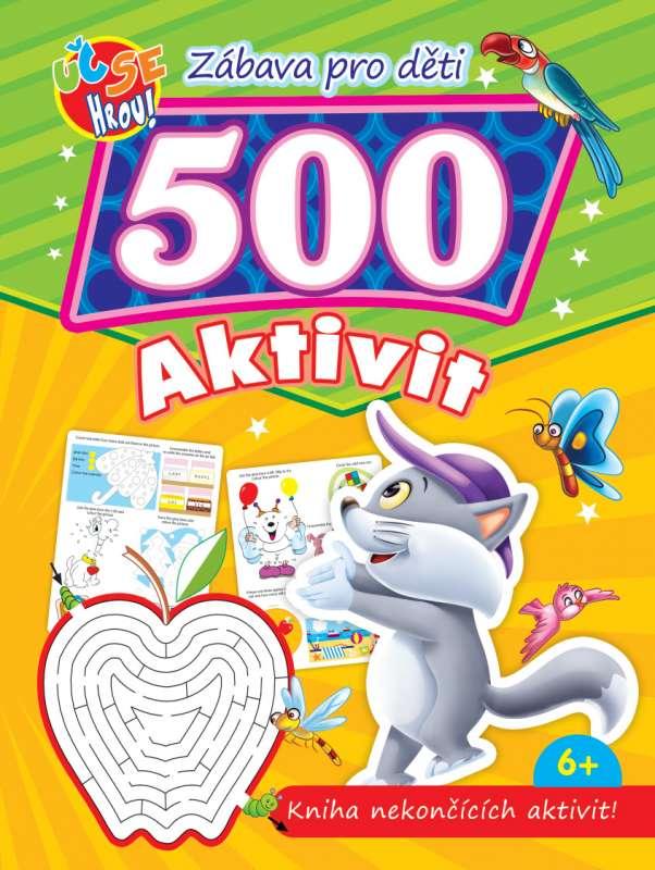 500 aktivit - kočka - Kniha nekončících aktivit!