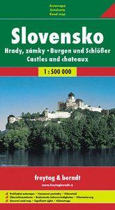 Hrady a zámky Slovenska měkká 1:500 000 - Automapa