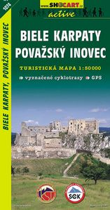 Biele Karpaty, Pov.Inovec 1:50 000 - Turistická mapa SHOCart Slovensko 1074