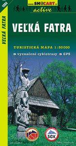 Veľká Fatra 1:50 000 - Turistická mapa SHOCart Slovensko 1084