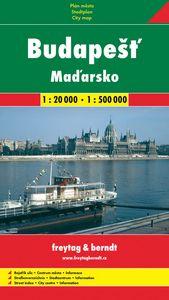 Budapešť + Maďarsko 1:20 000/1:500 000 - Automapa, plán mesta