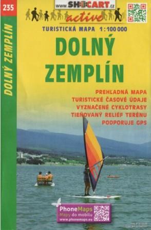 Dolný Zemplín 1:100 000 - Turistická mapa SHOCart 235