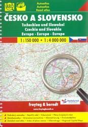 Česko a Slovensko 1:150 000, 1:4 000 000 - Autoatlas