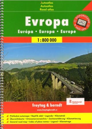 Evropa 1:800 000 - Autoatlas