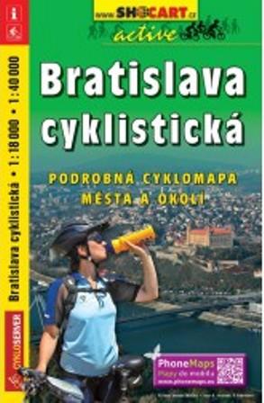 Bratislava cyklistická 1 : 18 000 / 1 : 40 000 - Podrobná cyklomapa mesta a okolia