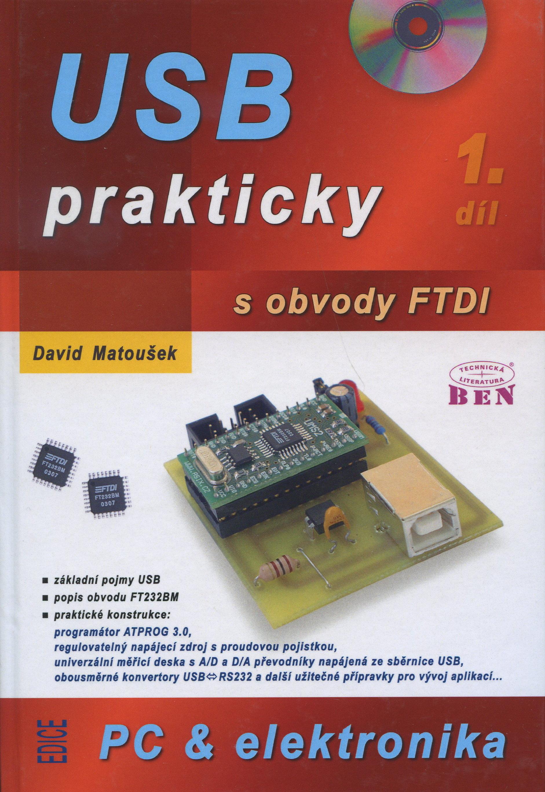 USB prakticky s obvody FTDI - 1. díl - měření, řízení a regulace pomocí několika jednoduchých přípravků