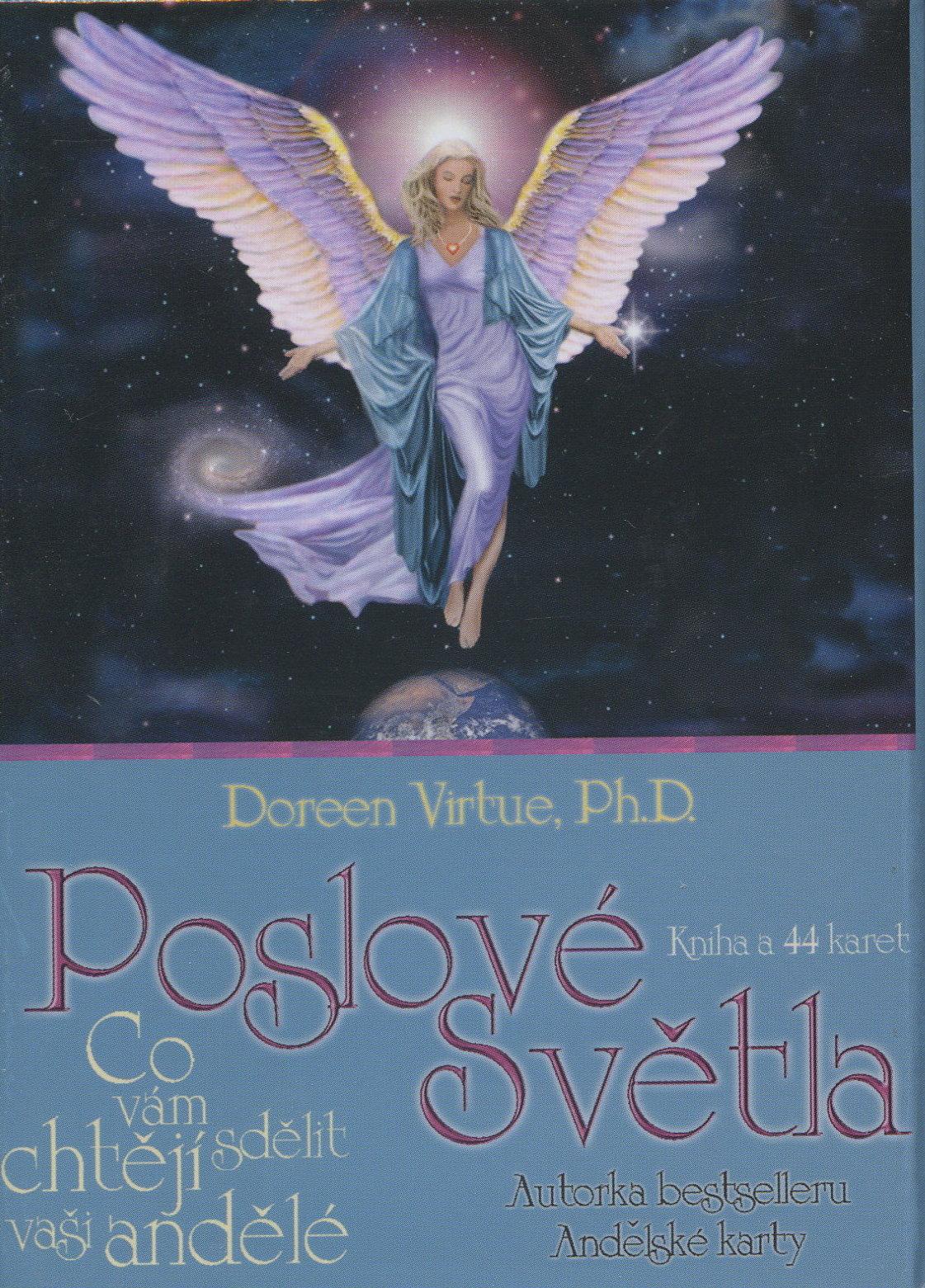 Poslové světla (kniha a karty) - Co vám chtějí sdělit vaši andělé. Kniha a 44 karet.