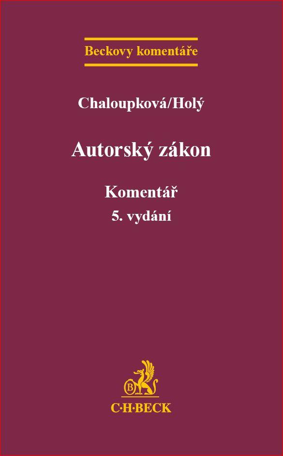 Autorský zákon - Komentář, 5. vydání