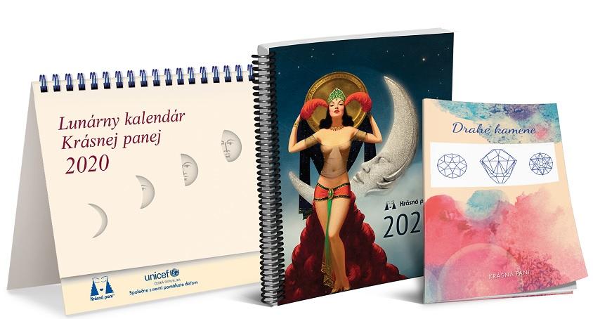 Lunárny kalendár Krásnej panej 2020 - s publikáciou
