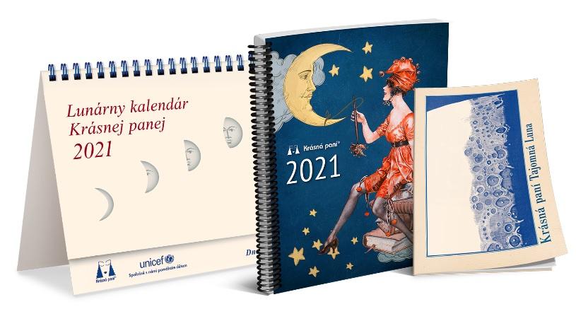 Lunárny kalendár Krásnej panej 2021 - s publikáciou
