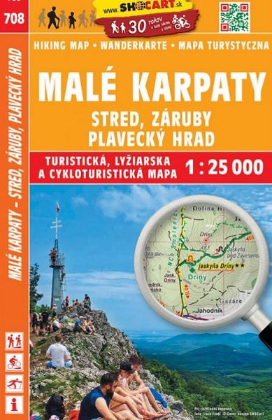 708 Malé Karpaty - Stred, Záruby, Plavecký hrad, 1:25.000