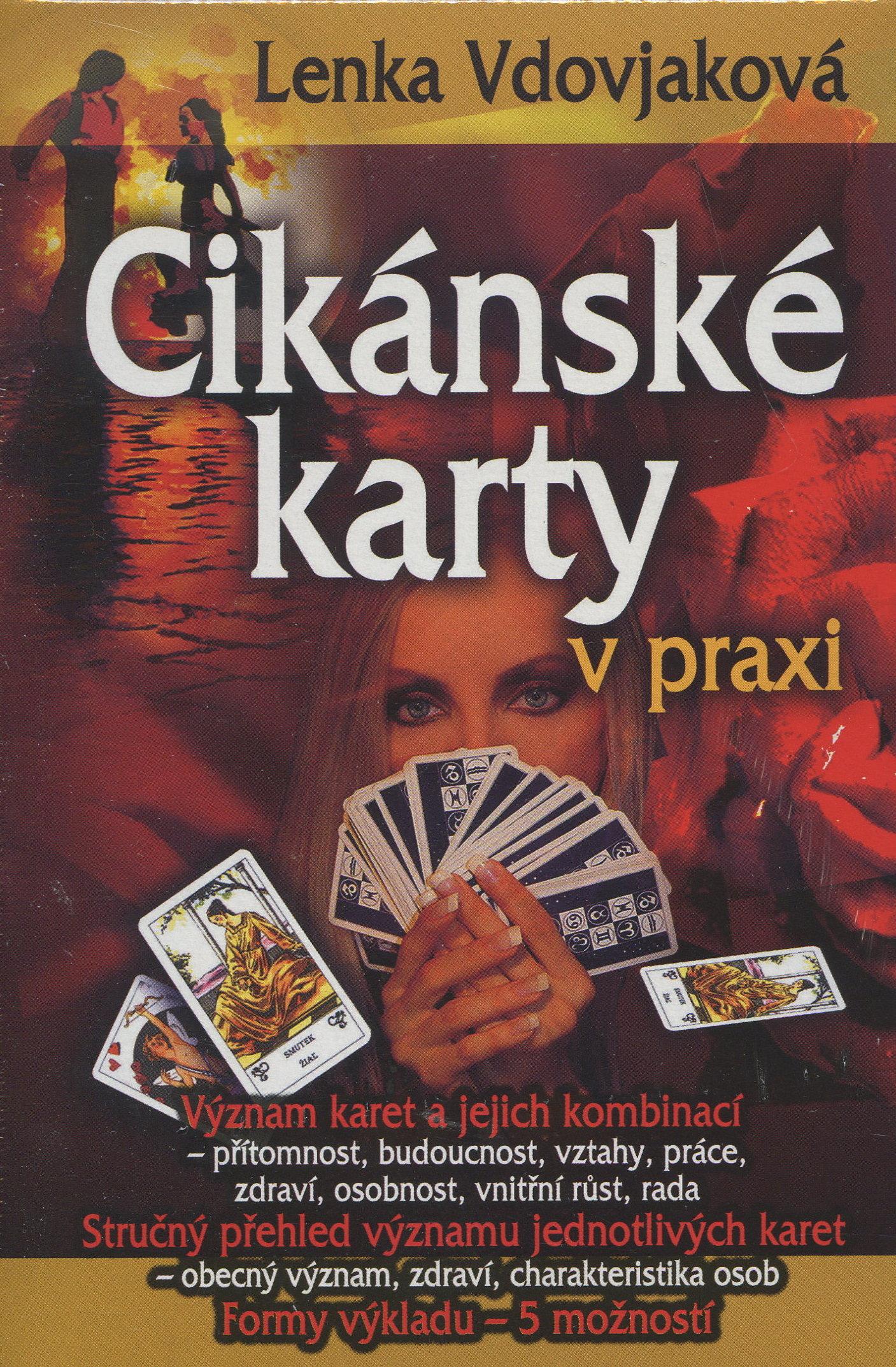 Cikánské karty v praxi - Kniha + 36 karet