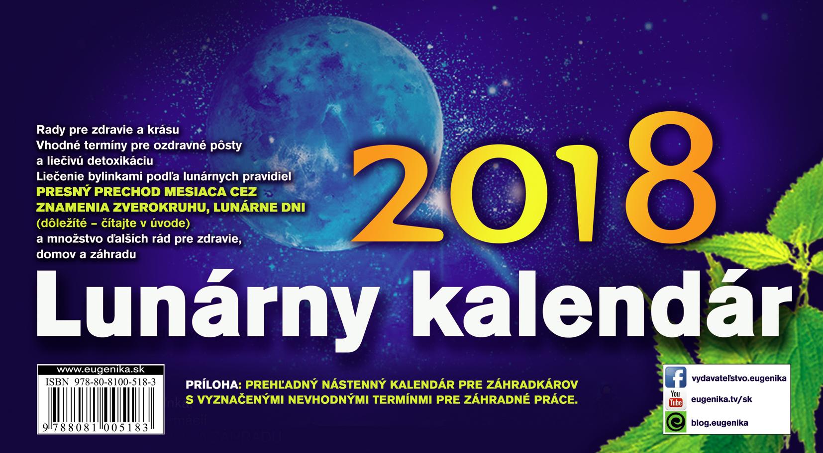Lunárny kalendár 2018 - stolový kalendár