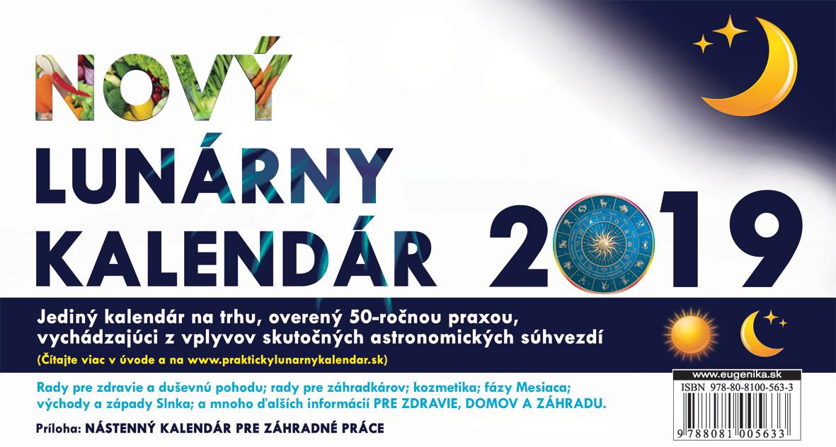 Nový Lunárny kalendár 2019 - stolový kalendár