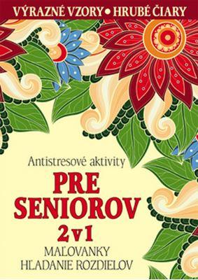 Antistresové aktivity pre seniorov 2v1 - Maľovanky, hľadanie rozdielov