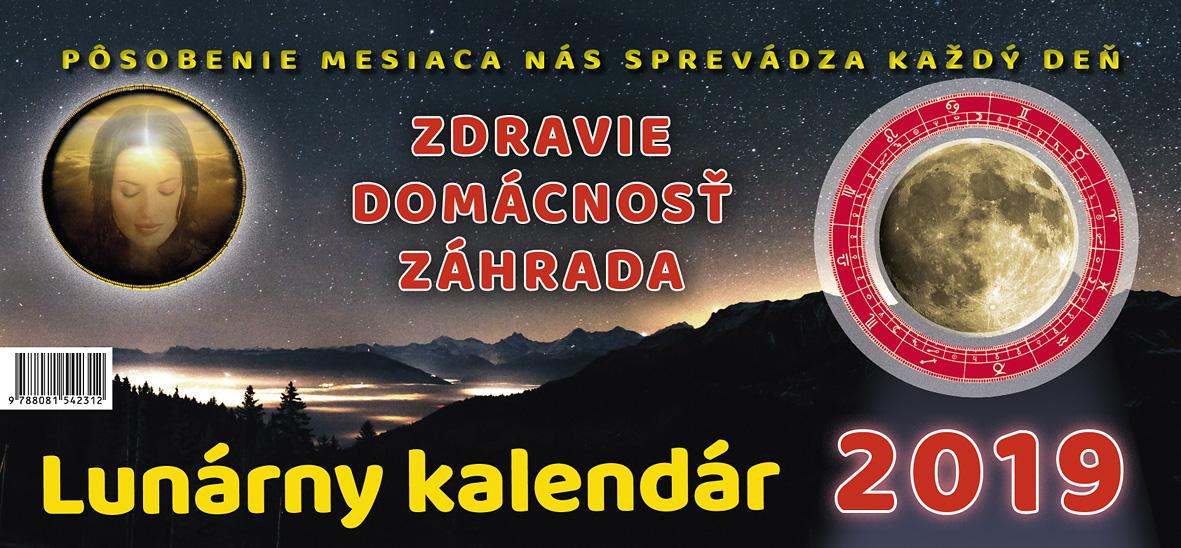 Lunárny kalendár 2019 - stolový kalendár