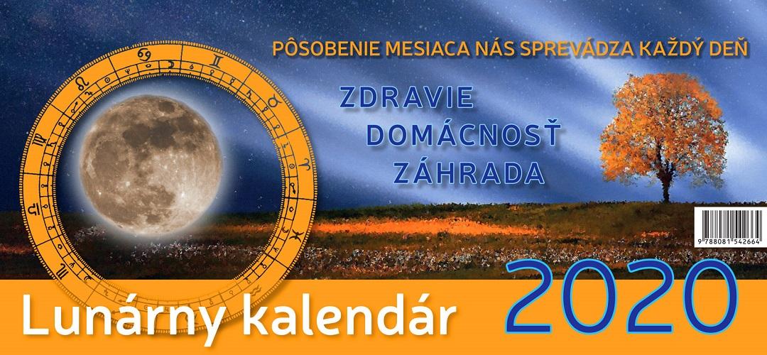 Lunárny kalendár 2020 - stolový kalendár