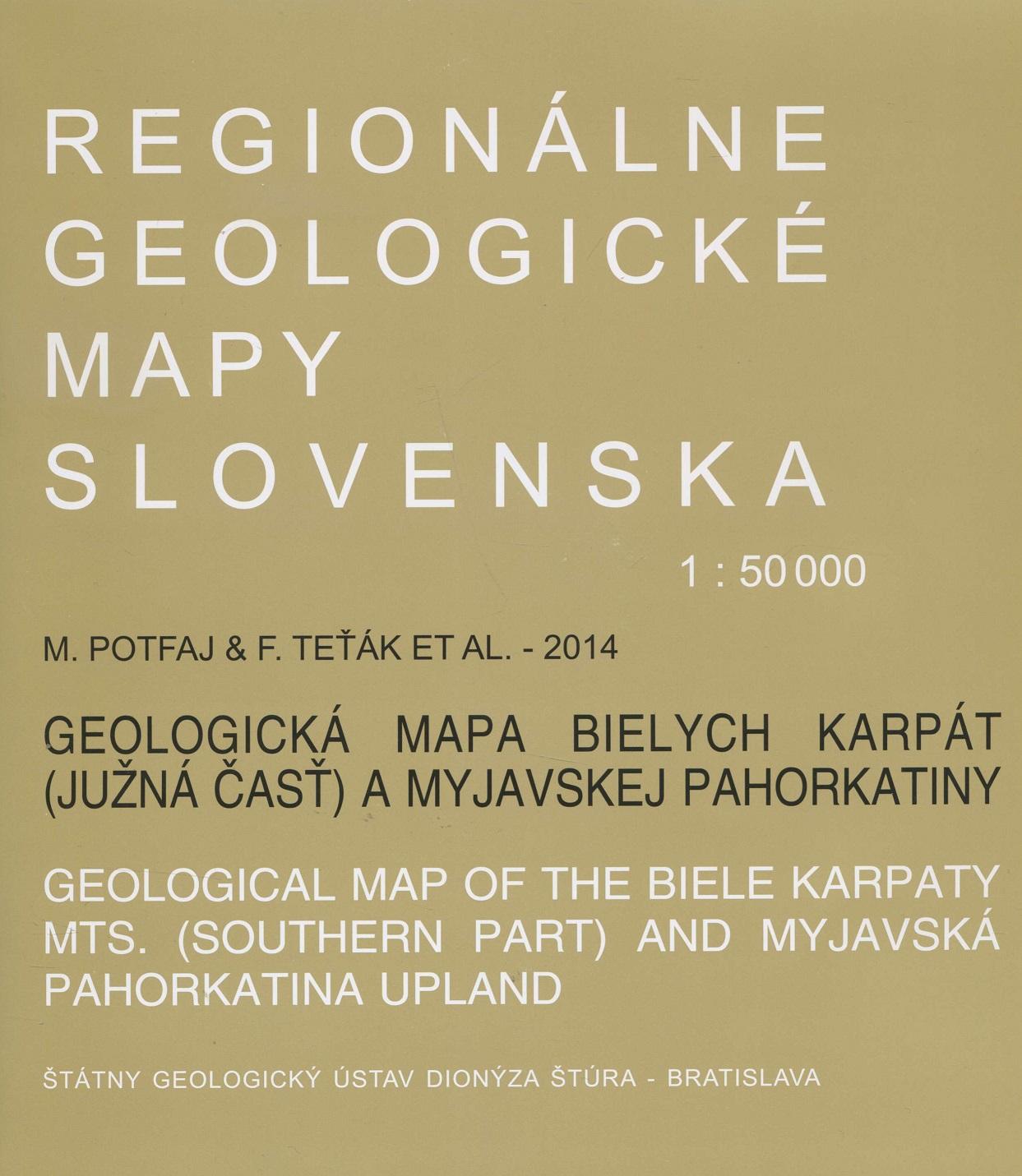 Geologická mapa Bielych Karpát 1:50 000 - Regionálne geologické mapy Slovenska