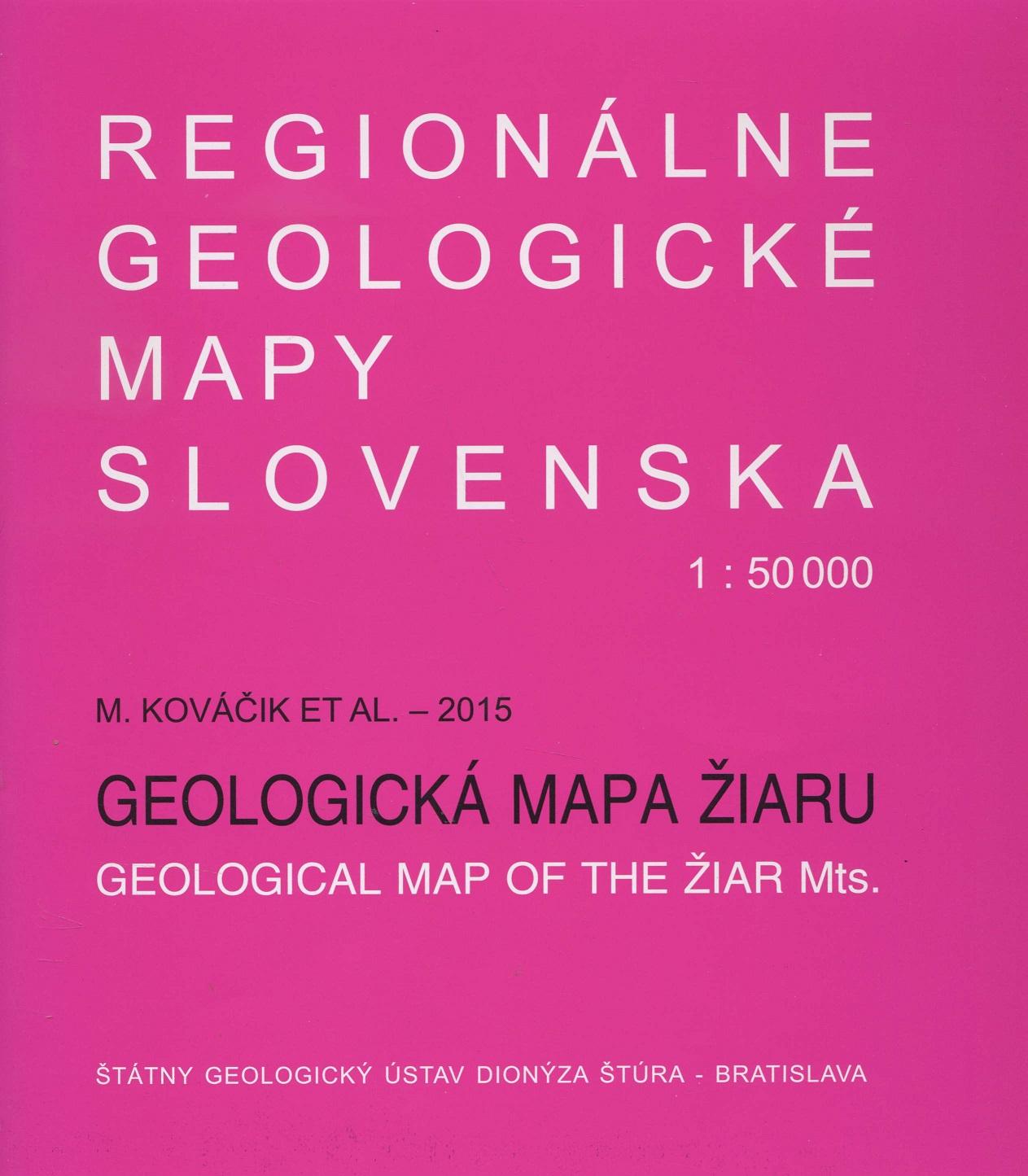 Geologická mapa Žiaru 1:50 000 - Regionálne geologické mapy Slovenska