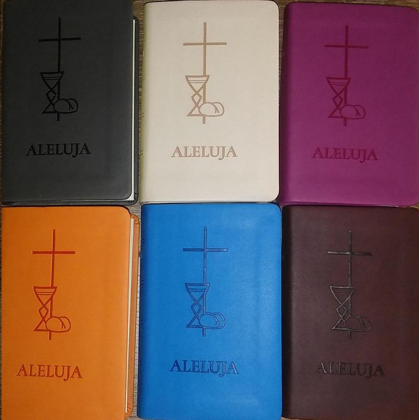 Aleluja ( béžová, cyklamenová, hnedá, modrá, oranžová, sivá ) - Svätá omša, Modlitby, Piesne